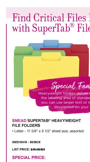 SuperTab® Heavyweight File Folders