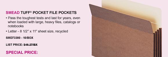 TUFF® Pocket File Pockets