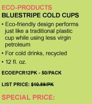 BlueStripe Cold Cups