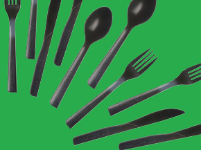 Recycled Polystyrene Cutlery - Forks  Recycled Polystyrene Cutlery