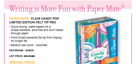 Flair Candy Pop Limited Edition Felt Tip Pen
