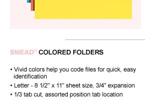Smead Colored Folders