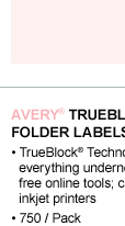 Avery® TrueBlock(R) Permanent File Folder Labels with Sure Feed™