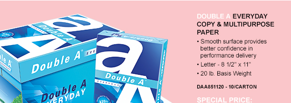 Double A Everyday Copy & Multipurpose Paper