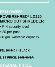 Powershred® LX220 Micro Cut Shredder